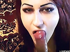 Hot young couple Goth Souls blowjob