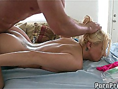 Busty Blonde Oily Fuck! 10