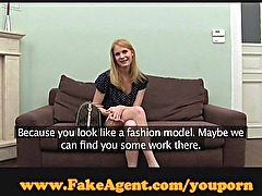 FakeAgent Blonde Russian beauty!