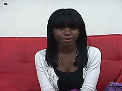 Ebony Teen In Her first Amateur Video