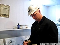 Getting Some Hard Cock From The Repairman