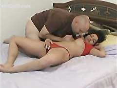 Chunky Latina Has Her Pussy Eaten While She Sleeps