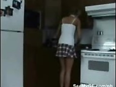 Super hot home alone video of real life 18 y.o. GF masturbates
