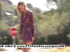 Lisa stunning amateur blonde teen public flashing