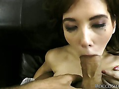 Watching Julias eyes fill with tears as Rocco Siffredi is drilling her mouth deeper and deeper with his fat cock is just priceless! He wont go easy on her until he cums!