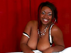 Selenna is a curvy, thick and beautiful black woman. But in spite of all that, shes a bit camera shy. Thankfully, Jmac was in the house to talk her into showing her gigantic tits.