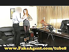 FakeAgent Horny amateur sucks and fucks in casting