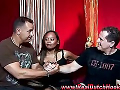 Amateur dutch hooker gives guy a blowjob