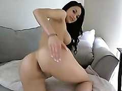 Gorgeous Skinny Brunette Big Tits Playing