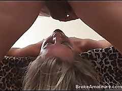 Teen amateur cream pie and facial