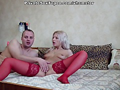 Turned on by toy hot amateur girl hungrily fucks piston