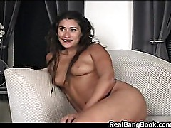 Long haired babe fucking a dildo part5