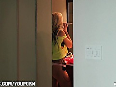 SEXY blonde roomate Jessa Rhodes gets caught getting dressed