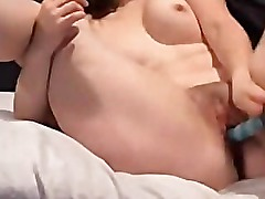 Amateur Brunette MILF Riding Dildo
