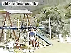 Fucking hot blonde in the playground
