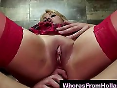 Blonde Dutch hooker assfucked by an amateur client
