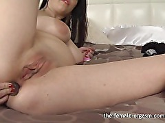 Girl Next Door with Big Nipples and Lips Masturbating to a Creamy Orgasm
