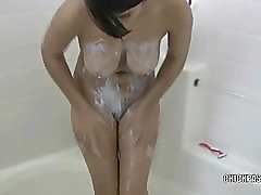 Latina hottie Layla in the shower