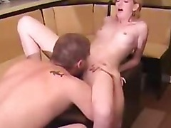 Amateur Blond Gets Fucked On A Foot Stool.