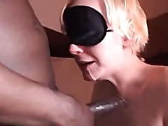 Blonde slut gets facefucked by a black cock -EASTTEXASBULL