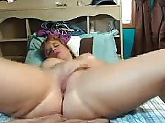 Chubby amateur fingers and toys creamy pussy