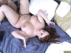Felicias titties bounce as she gets fucked hard.