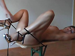 Amateur Slut Tied and extreme Anal Fucked with Cum on Face