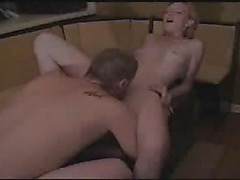 Amateur Blond Gets Fucked On A Foot Stool