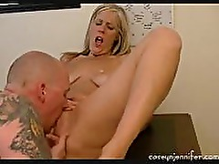 Mature MILF fucked in her office