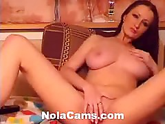 Michelle Demirijin Shows Off Her Huge Tits and Pretty Pussy On Webcam