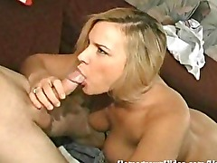 Homemade sex tape with horny blonde wife