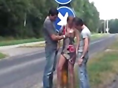 Public Public Sex Threesome In A Two Roads Cross Section teen amateur teen cumshots swallow dp anal