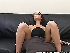 Pretty Amateur Audriana Fucked and Creampied