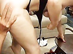 Hot looking mom gets butt and pussy licked