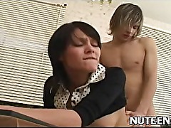 Nude hot girl gets tits sucked and blowjobs