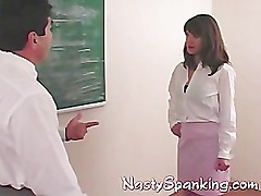 teacher spanking nasty student
