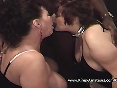 Busty matures with a big black cock
