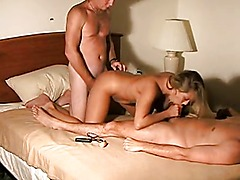 Cuckold husband shares his wife with friend