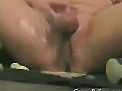 Amateur messing up his cock