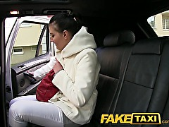 FakeTaxi Back seat sex on public road side