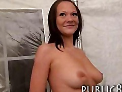 Petite amateur brunette chick pussy stuffed by stranger