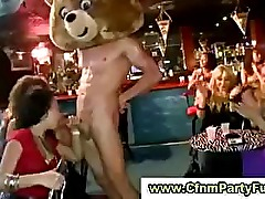 Party lady got tit spanked by cock