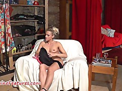 First anal casting for nasty czech blonde