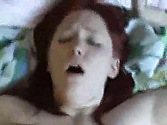 Big Tits Redhead Girlfriend Sucks And Fucks