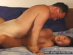 Asian whore anal fucked while riding her part2