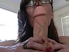 JustAmber dildo blowjob with dirtytalk