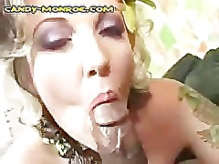 Blonde Candy Enjoys Her Big Dark Meat