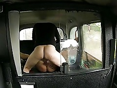 Big boobs amateur slut tricked by pervert driver