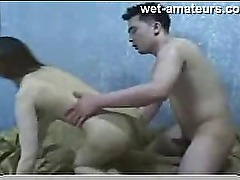 Amateur hairy asian facial