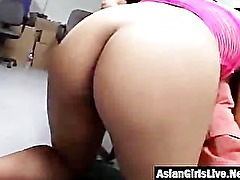 Horny Japanese chick banged well